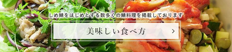 【美味しい食べ方】しめ鯖をはじめとする数多くの鯖料理を掲載しております